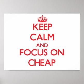 Mantenga la calma y el foco encendido baratos impresiones