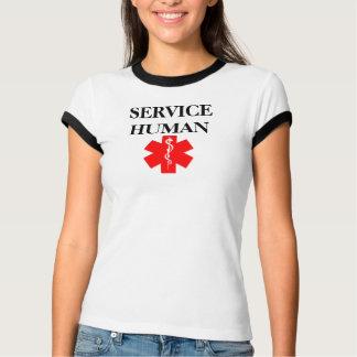 Mantenga la camiseta alerta médica roja humana del