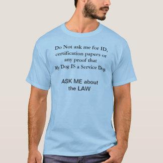 Mantenga la camiseta de la conciencia de las leyes