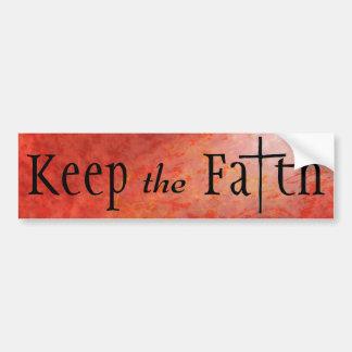 Mantenga la fe cristiana pegatina para coche