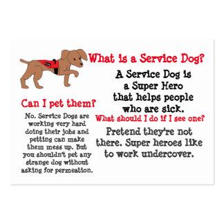 Mantenga la información del perro para los niños tarjetas de visita grandes