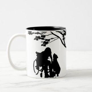 Mantenga la taza del amor del perro