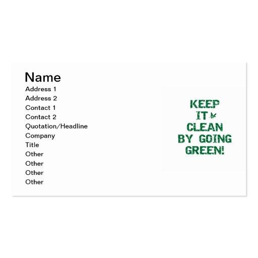 Mantenga limpio por las camisetas y los regalos ve tarjetas de visita