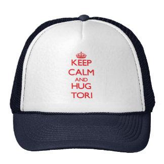 Mantenga los toros tranquilos y del abrazo gorras de camionero