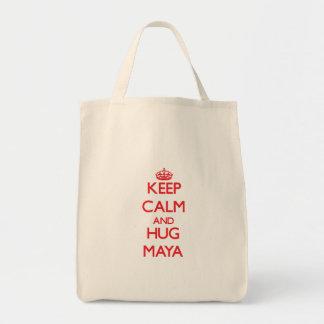 Mantenga maya tranquilo y del abrazo bolsas