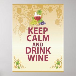Mantenga poster único tranquilo y de la bebida del póster