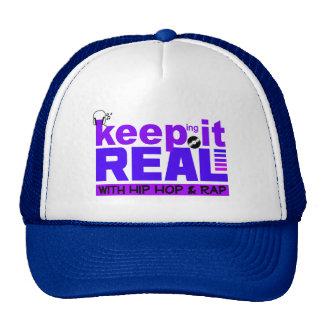 Mantenga real con el gorra del hip-hop