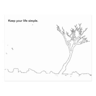 Mantenga su vida simple postal