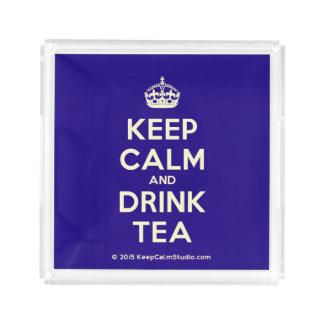 Mantenga té tranquilo y de la bebida bandeja acrílica