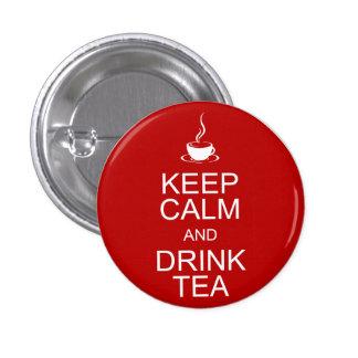 Mantenga té tranquilo y de la bebida chapa redonda de 2,5 cm