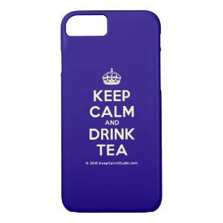 Mantenga té tranquilo y de la bebida funda iPhone 7