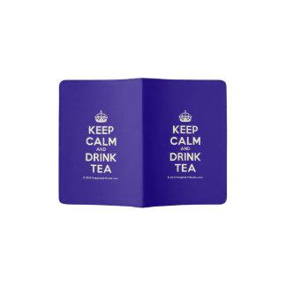 Mantenga té tranquilo y de la bebida porta pasaportes