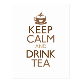 Mantenga té tranquilo y de la bebida postal