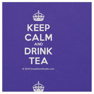 Mantenga té tranquilo y de la bebida tela