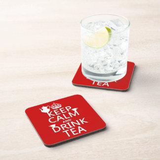 Mantenga té tranquilo y de la bebida - todos los posavasos de bebidas
