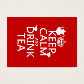 Mantenga té tranquilo y de la bebida - todos los tarjeta de negocios