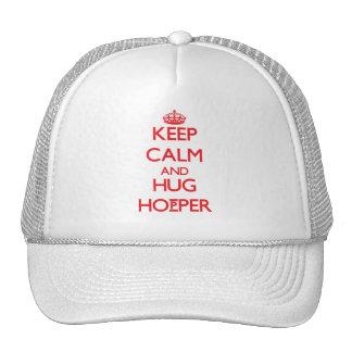 Mantenga tolva tranquila y del abrazo gorras