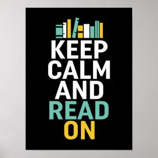 Mantenga tranquilo leído en el poster para el póster