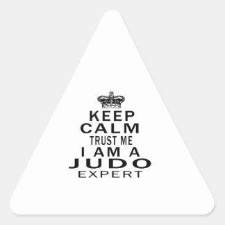 Mantenga tranquilo para confiarme en que soy un calcomania triangulo personalizadas