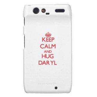 Mantenga tranquilo y ABRAZO Daryl Motorola Droid RAZR Funda
