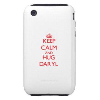 Mantenga tranquilo y ABRAZO Daryl Tough iPhone 3 Carcasa