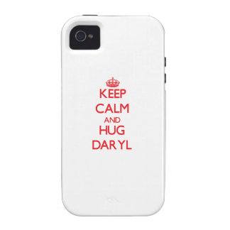 Mantenga tranquilo y ABRAZO Daryl Vibe iPhone 4 Carcasa