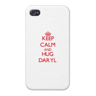 Mantenga tranquilo y ABRAZO Daryl iPhone 4/4S Carcasas