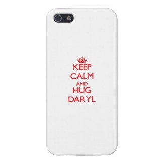 Mantenga tranquilo y ABRAZO Daryl iPhone 5 Coberturas