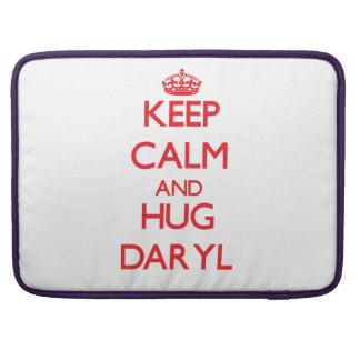 Mantenga tranquilo y ABRAZO Daryl Funda Para Macbooks