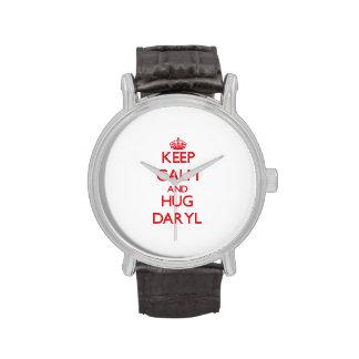Mantenga tranquilo y ABRAZO Daryl Reloj