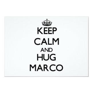 Mantenga tranquilo y abrazo Marco Invitaciones Personales