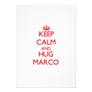 Mantenga tranquilo y ABRAZO Marco Invitaciones Personalizada