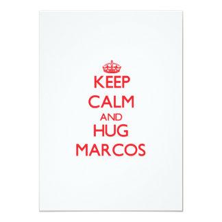 Mantenga tranquilo y ABRAZO Marcos Invitaciones Personalizada