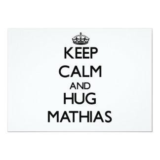 Mantenga tranquilo y abrazo Matías Invitación Personalizada