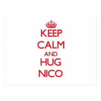 Mantenga tranquilo y ABRAZO Nico Postal