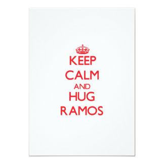 Mantenga tranquilo y abrazo Ramos Anuncio