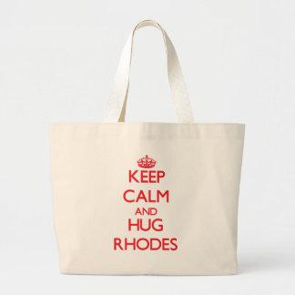 Mantenga tranquilo y abrazo Rodas Bolsas