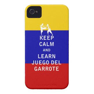 Mantenga tranquilo y aprenda a Juego del Garrote iPhone 4 Cárcasas