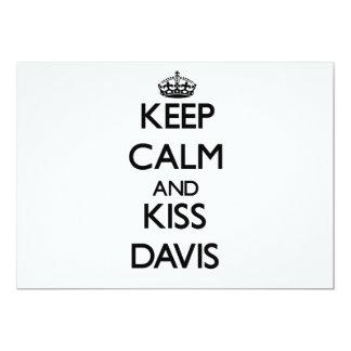 Mantenga tranquilo y beso Davis Invitación 12,7 X 17,8 Cm
