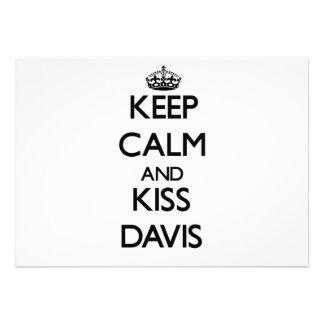 Mantenga tranquilo y beso Davis Comunicados Personales