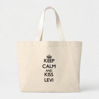 Mantenga tranquilo y beso Levi Bolsas