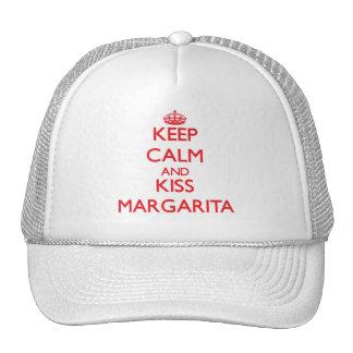 Mantenga tranquilo y beso Margarita Gorro De Camionero