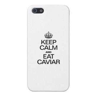 MANTENGA TRANQUILO Y COMA EL CAVIAR iPhone 5 PROTECTORES