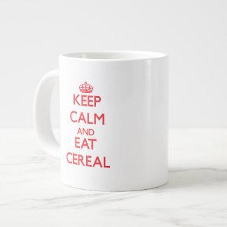 Mantenga tranquilo y coma el cereal taza grande