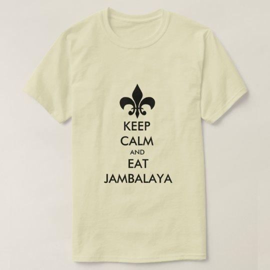 Mantenga tranquilo y coma la camiseta de Luisiana