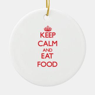 Mantenga tranquilo y coma la comida ornamentos de navidad