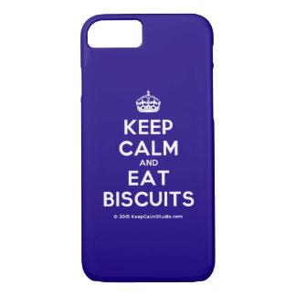 Mantenga tranquilo y coma las galletas funda iPhone 7