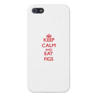 Mantenga tranquilo y coma los higos iPhone 5 cárcasas