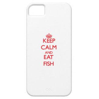 Mantenga tranquilo y coma los pescados iPhone 5 protectores