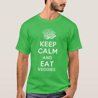 Mantenga tranquilo y coma los Veggies Camiseta